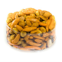 austiNuts has brought the New Orleans taste to your next party! This Cajun Party Mix has perfect blend of flavor that will have you thinking about Marti Gras with every bite!   Contains: Roasted Sweet Corn, Chili Bits, Hot & Spicy Cashews, Hot & Spicy Peanuts, Hot & Spicy Pumpkin Kernels