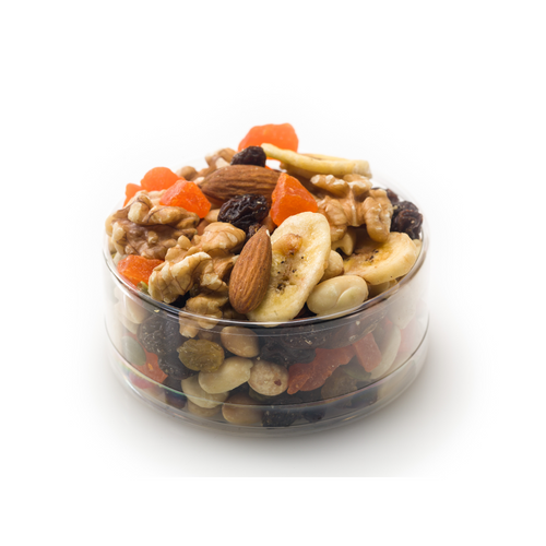 Trail Mix in Gold Trim Container