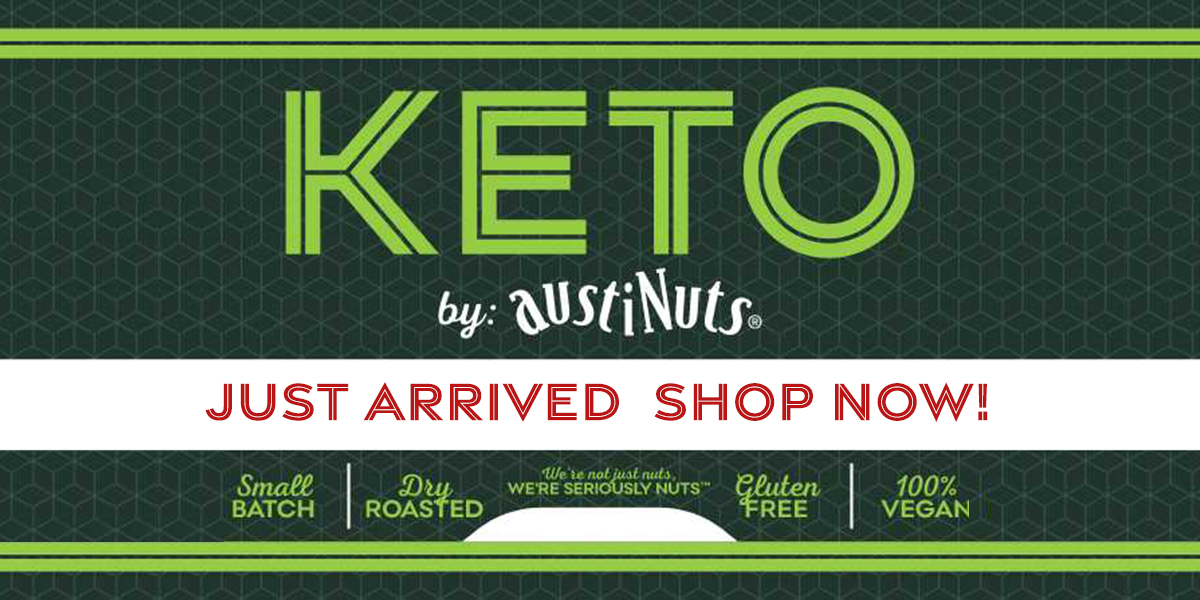 austiNuts carries Keto friendly snacks. Our dry roasted nuts and mixes are a perfect gift for a health nut.