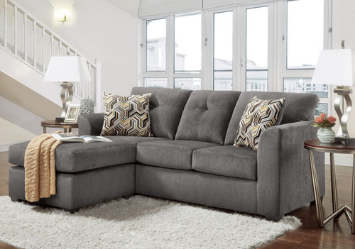 KELLY GRAY SOFA-CHAISE