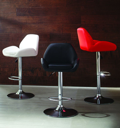 CHROME ADJ BAR STOOL