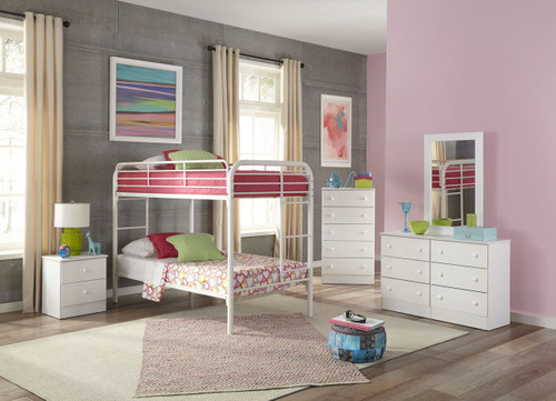 TWIN WHITE BUNK BED