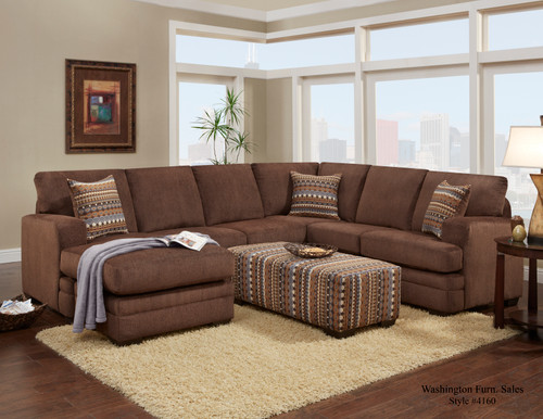 HILLEL CHOCOLATE 2PC SECTIONAL