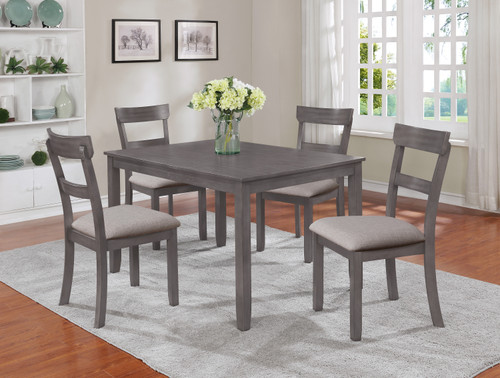 HENDERSON GRAY 5-PC  DINETTE SET