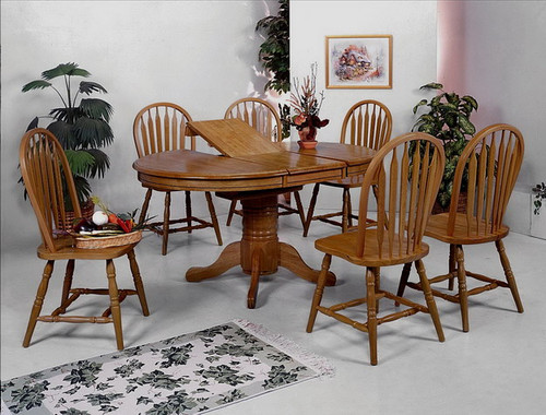 FARMHOUSE DARK OAK 5PC DINING SET