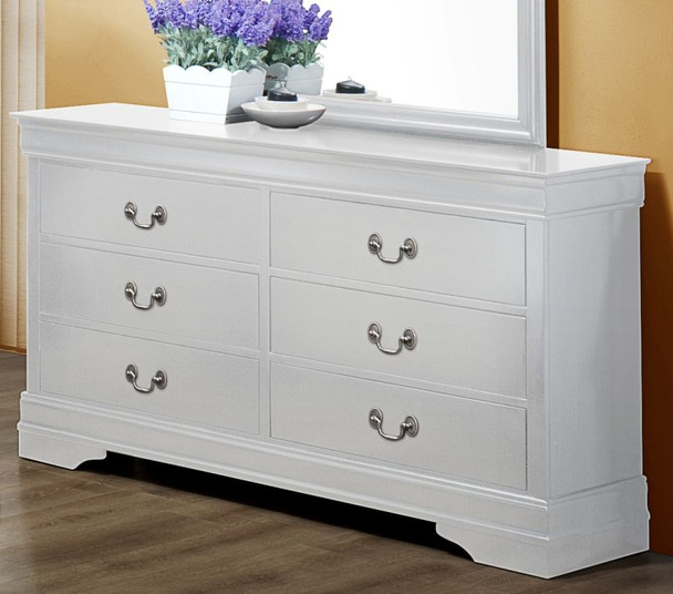 White Finish Louie Dresser