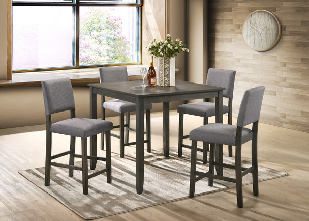 5 PC DERICK GREY DINETTE