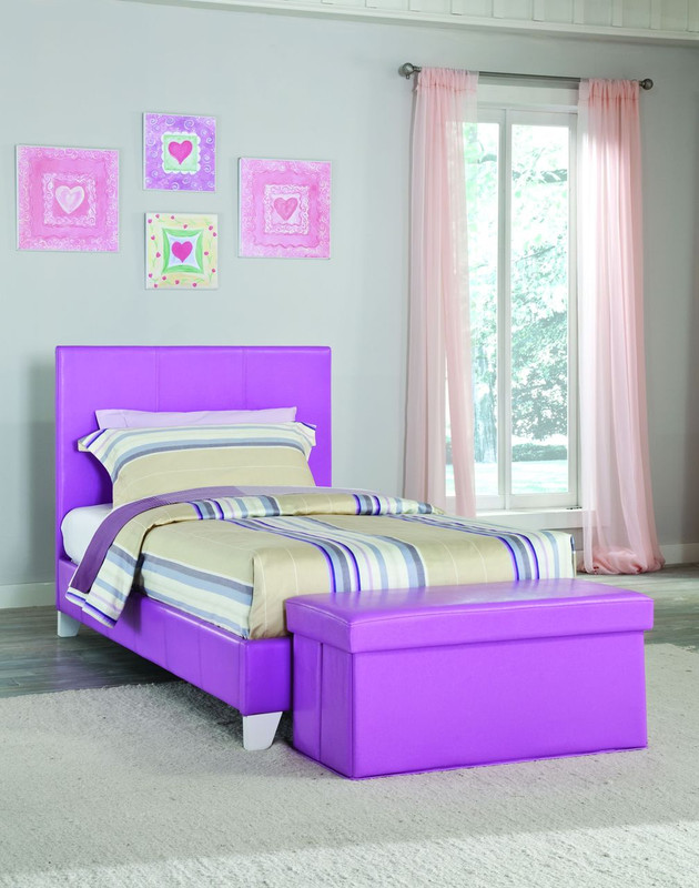LAVENDER TWIN SIZE YOUTH PLATFORM BED