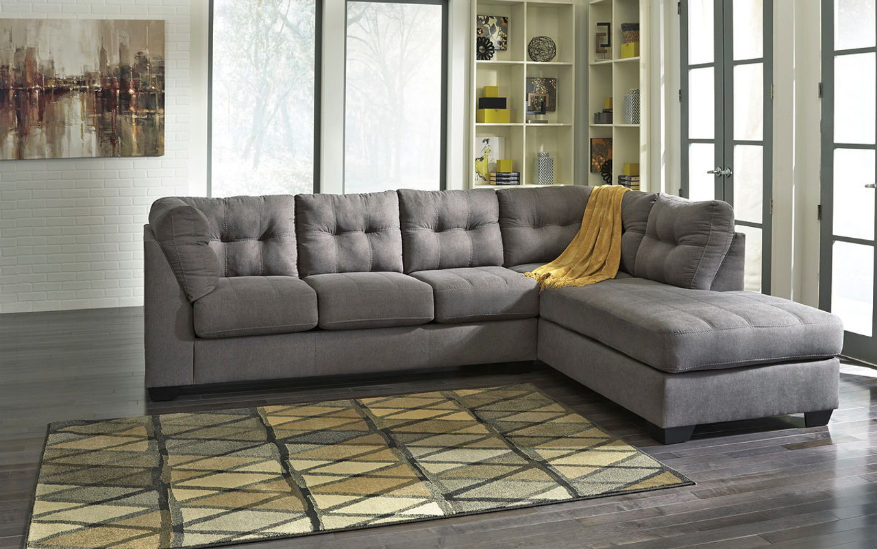 Rent-to-Own the Maier Charcoal Left Arm Facing Sofa & Right Arm ...