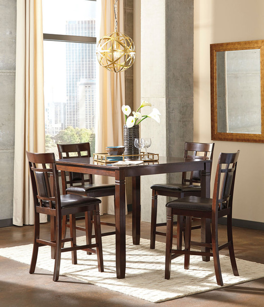 Bennox Brown 5 Pc. Counter Height Dining Set