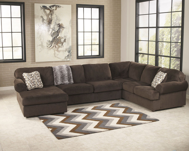 Jessa Place Chocolate 3 Pc. Left Arm Facing/Right Arm Facing Sectional