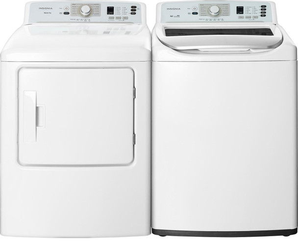Laundry Set- 4.1 Cu. Ft. 11-Cycle Top-Loading Washer and 6.7 Cu. Ft. 10-Cycle Electric Dryer - White