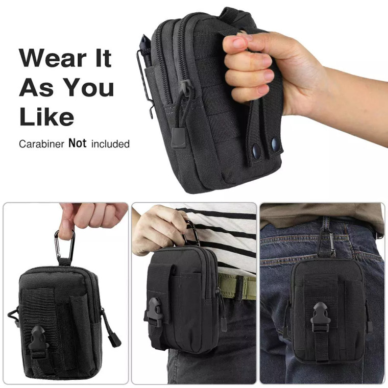 Dropshipping Molle sport waist bag men outdoor molle tactical attachment cell phone pack lightweight load-carrying equipment