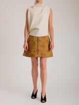 Women Louis Vuitton Monogram A-line Skirt - Brown Size M UK 10 US 6 FR 38