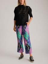 Women Miu Miu Cable Knit Sweater - Black Size S UK 8 US 4 FR 36