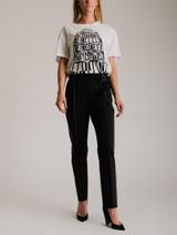 Women Valentino Wide Leg Logo Trousers - Black Size UK 8 US 4 IT 40