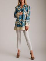 Women Gucci Watercolour Flowers Jacket - Blue Size L UK 14 US 10 IT 46