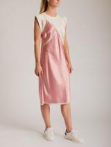 Women Alexander Wang T-Shirt Hybrid Dress - Pink Size S UK 8 US 4