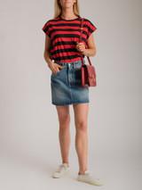 Women Off-White Mini Denim Skirt - Blue Size M UK 12 US 8 FR 40