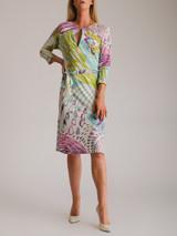 Women Emilio Pucci Printed Midi Dress - Multicolour Size UK 10 US 6 IT 42