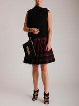 Women Roland Mouret Eugene Ribbon Tie Top - Black Size M UK 10 US 6 FR 38