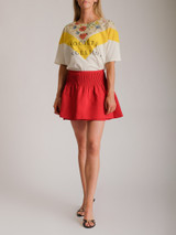 Women Valentino Mini Shorts - Red Size M UK 10 US 6 IT 42