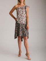 Women Isabel Marant One Shoulder Floral Top - Multicolour Size M UK 10 US 6 FR 38