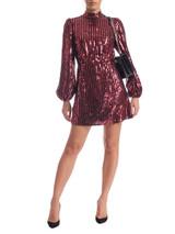 Women Rixo Samantha Sequinned Crepe Mini Dress - Red Size S UK 8 US 4