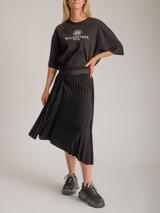 Women Balenciaga Pleated Jersey Midi Skirt - Black Size M UK 10 US 6 FR 38