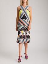Women Peter Pilotto Printed Cut-Out Dress - Multicolour Size M UK 10 US 6 IT 42