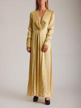 Women Ganni Muget Print Dress - Yellow Size S UK 8 US 4 FR 36