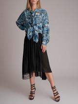 Asymmetric Lace-Trimmed Jersey Midi Skirt - Black Size XXS UK 4 US 0 IT 36