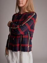 Women Chanel Tweed Jacket - Navy Size XXL UK 16 US 12 FR 44