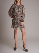 Women Dolce & Gabbana Floral Long-Sleeve Print Dress - Multicolor Size S UK 8 US 4 IT 40