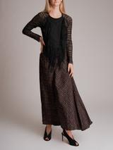 Women Isabel Marant Printed Maxi Skirt - Black Size S UK 8 US 4 FR 36