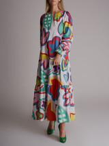 Women Mira Mikati Printed Maxi Dress - White Size M UK 10 US 6 FR 38