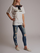 Women Current Elliott The Stilleto Ripped Jeans - Blue Size XS UK 6 US 0