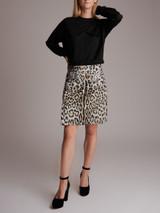 Women Dolce & Gabbana Leopard Mini Skirt - Silver Size S UK 8 US 4 IT 42