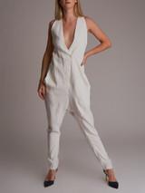 Women Givenchy Low Cut Jumpsuit - White Size S UK 8 US 4 IT 40