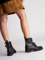 Studded Biker Boots
