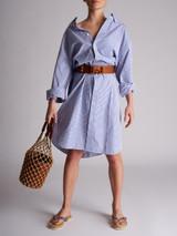 Women Balenciaga Striped Swing Shirt Dress - Blue Size XS UK 6 US 0 FR 34