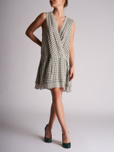 Women Proenza Schouler Pattern Mini Dress - White Size M UK 10 US 6