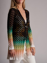Women Missoni Printed Cardigan - Multicolour Size S UK 8 US 4 IT 40