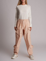 Women Loewe Pocketed Baggy Trousers - Pink Size S UK 8 US 6 IT 40
