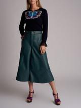 Women Mary Katrantzou Tuco Embroidered Cashmere Knit Sweater  - Navy Size S UK 8 US 4