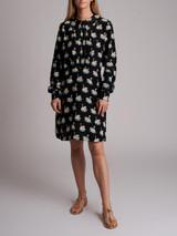 Women Stella McCartney Swan-Print Shirt Dress - Black Size M UK 10 US 6 IT 42