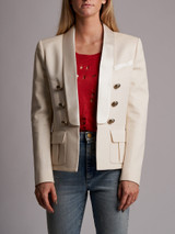 Women Balmain Blazer Jacket - White Size M UK 12 US 8 FR 40