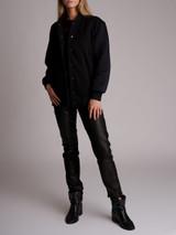 Women Fendi Graphic Bomber Jacket - Black Size S UK 8 US 4 IT 40