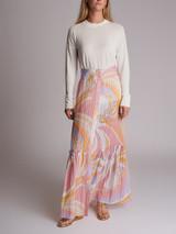 Women Emilio Pucci Print Maxi Skirt - Multicolour Size M UK 10 US 6 IT 42