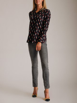 Women Saint Laurent Lipstick Pattern Shirt - Black Size XS UK 6 US 2